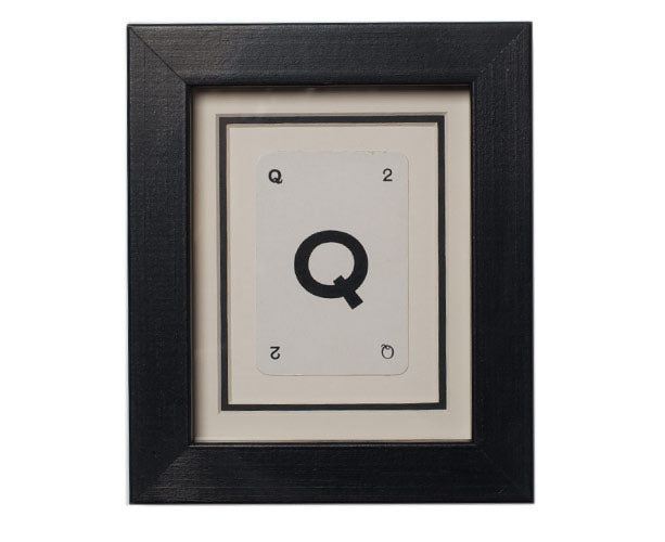 Mini Q Framed Playing Card