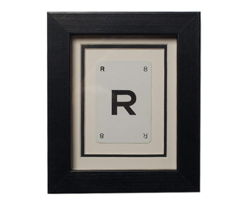 Mini R Framed Playing Card