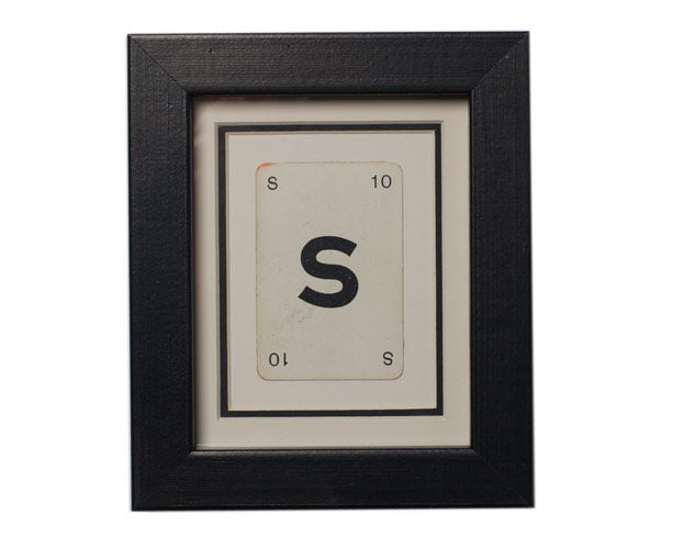 Mini S Framed Playing Card