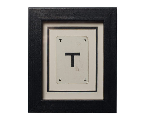 Mini T Framed Playing Card