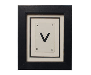 Mini V Framed Playing Card