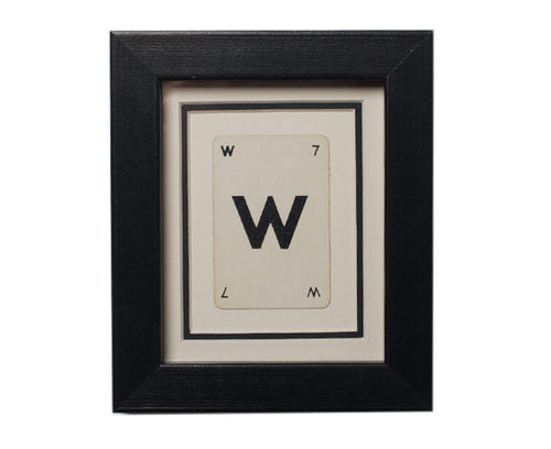 Mini W Framed Playing Card