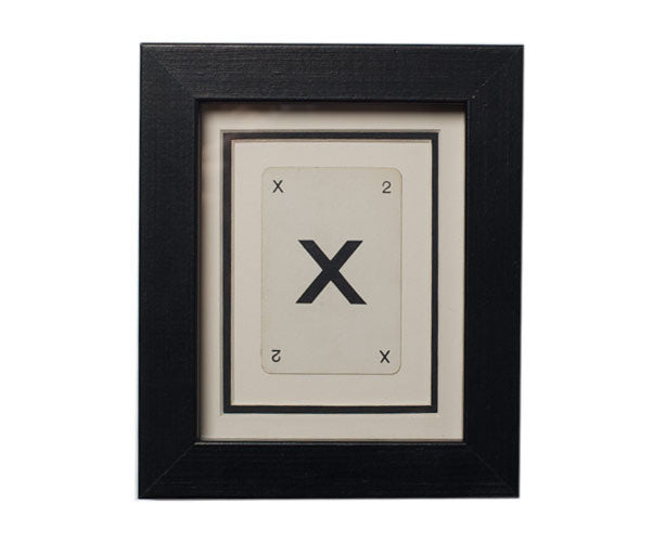 Mini X Framed Playing Card