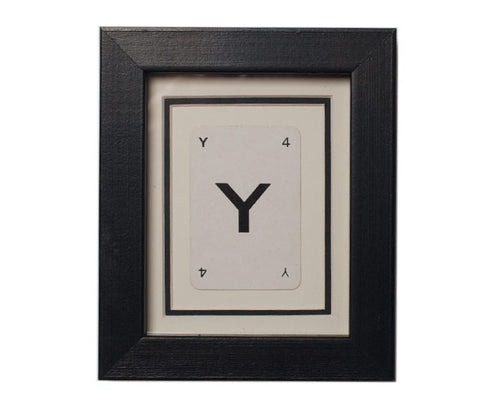 Mini Y Framed Playing Card