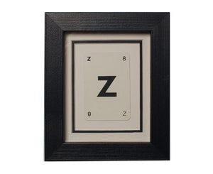 Mini Z Framed Playing Card