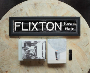 Flixton Towns Gate Framed Bus Blind