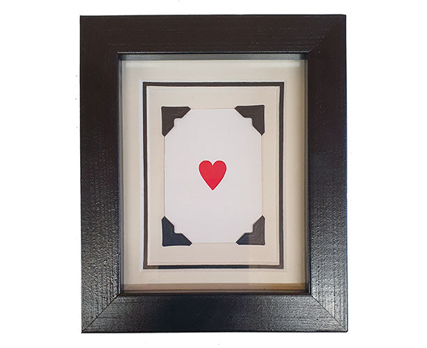 Mini Heart Framed Playing Card