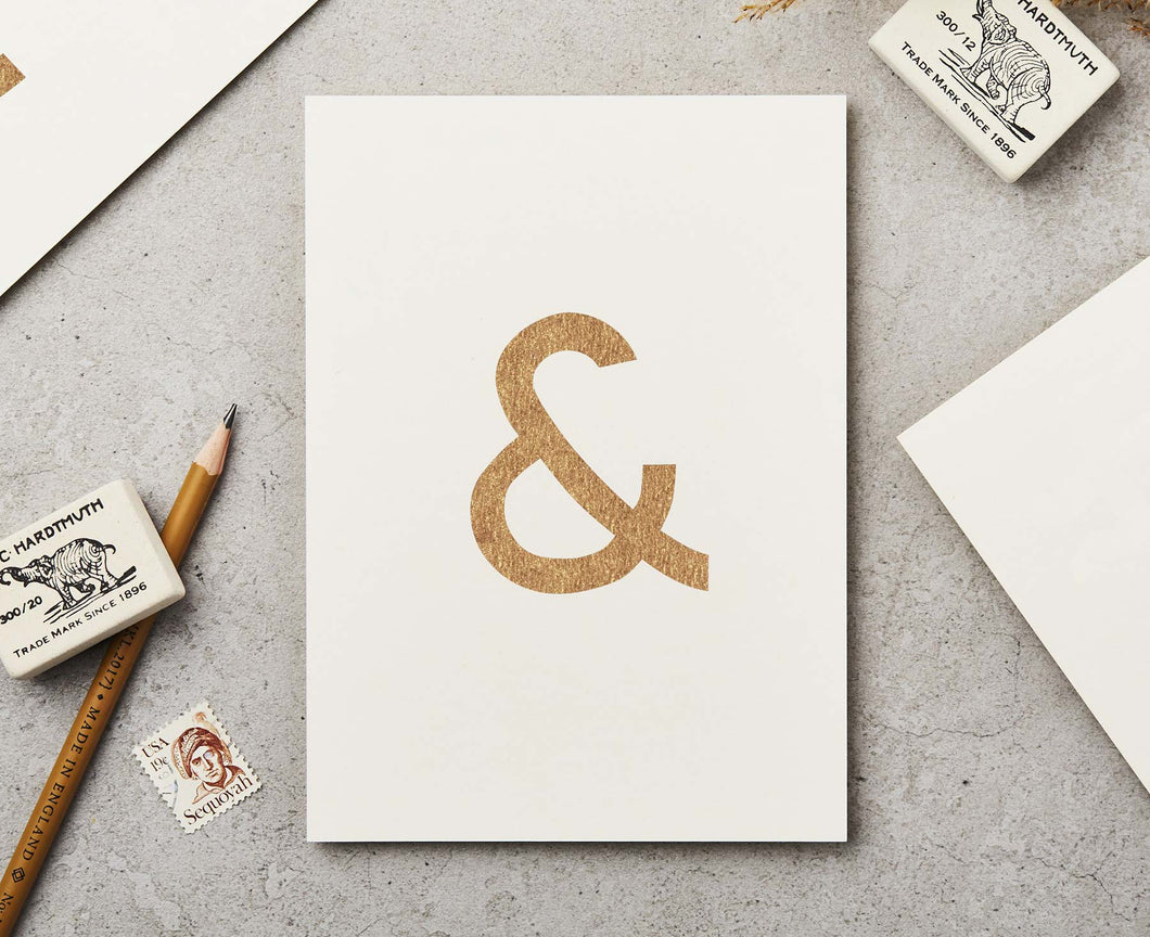 Ampersand Copper Ink Postcard