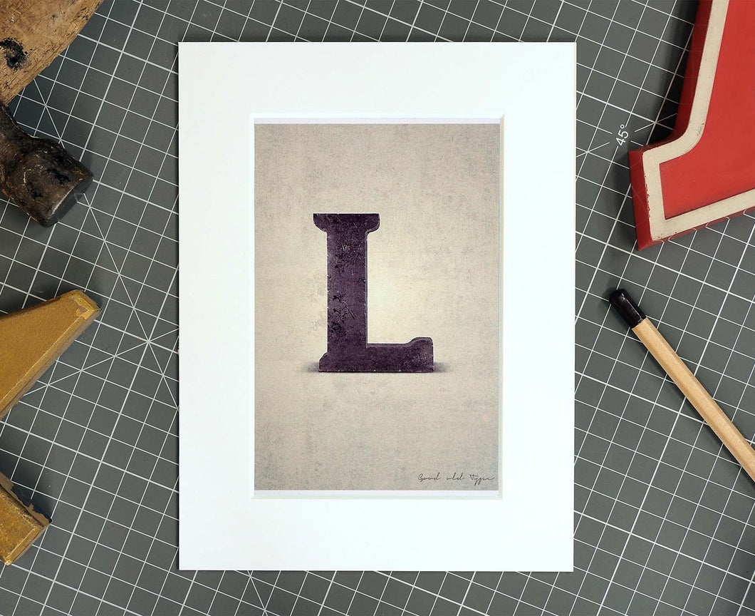 Letter L Salvaged Signage postcard