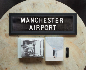 Manchester Airport Framed Bus Blind