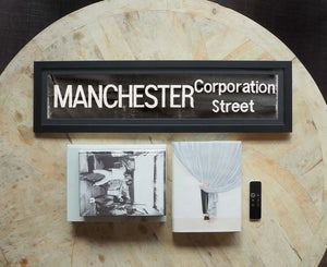 Manchester Corporation Street Framed Bus Blind