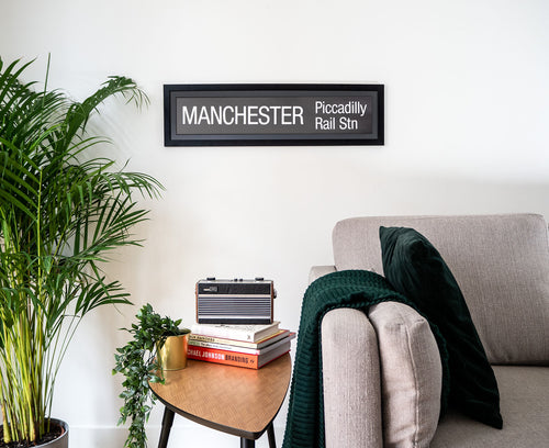 Manchester Piccadilly Rail Station Framed Bus Blind