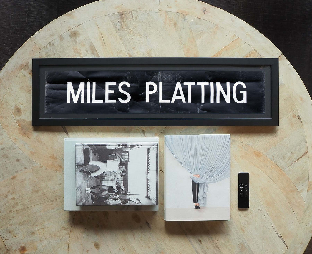 Miles Platting Framed Bus Blind