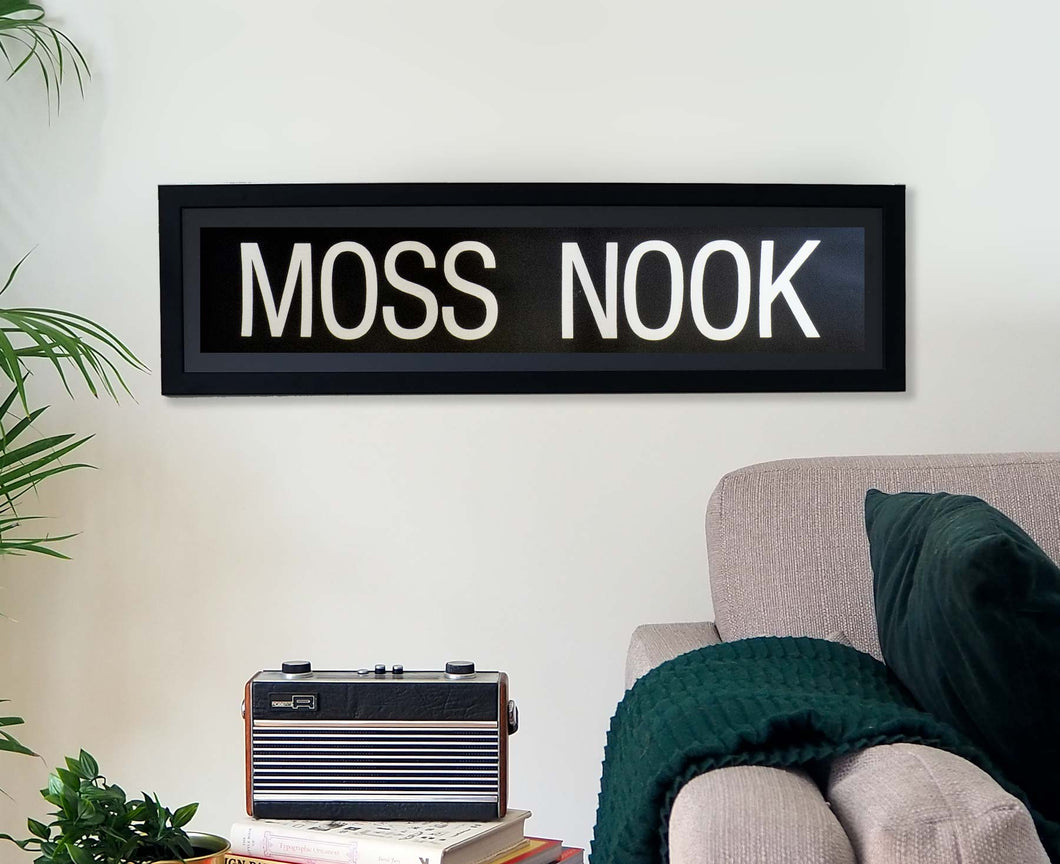 Moss Nook Framed Bus Blind