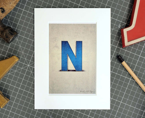 Letter N Salvaged Signage postcard