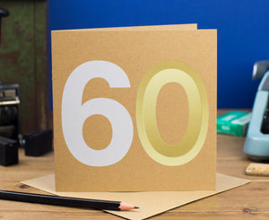 60th Birthday Number Card