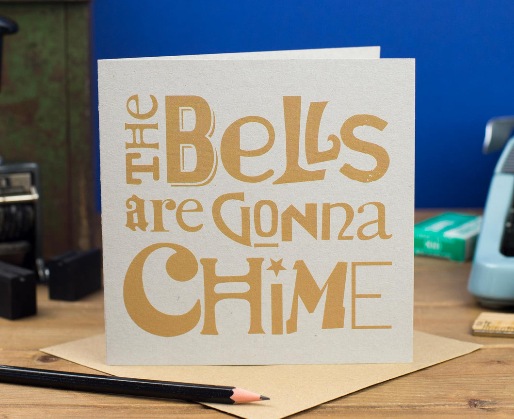 Bells Are Gonna Chime Wedding Card