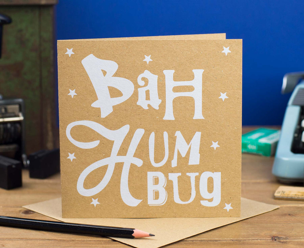 Bah Humbug Kraft Christmas card