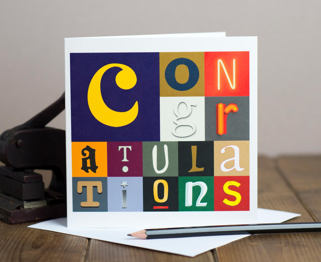 Congratulations letters card