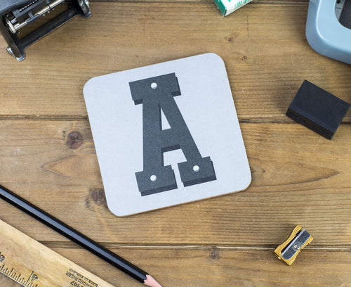 'A' Letter Coaster