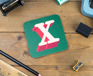 'X' Letter Coaster