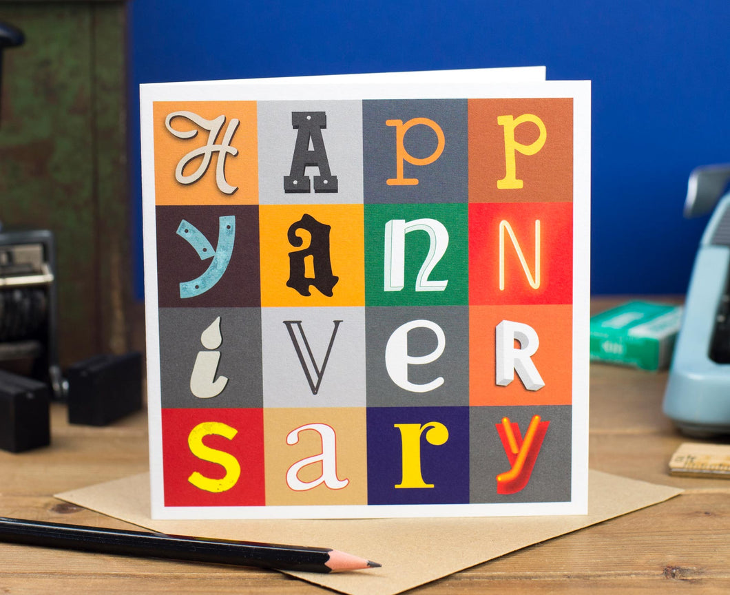 Happy Anniversary Letters Card