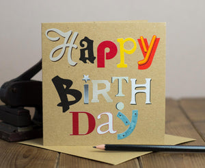 Happy Birthday Letters Card