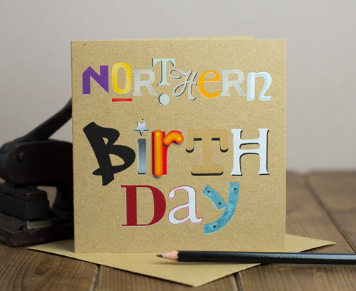 Northern Birthday kraft card