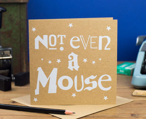 Not Even A Mouse Kraft Christmas card