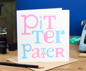 Pitter Patter New Baby Card