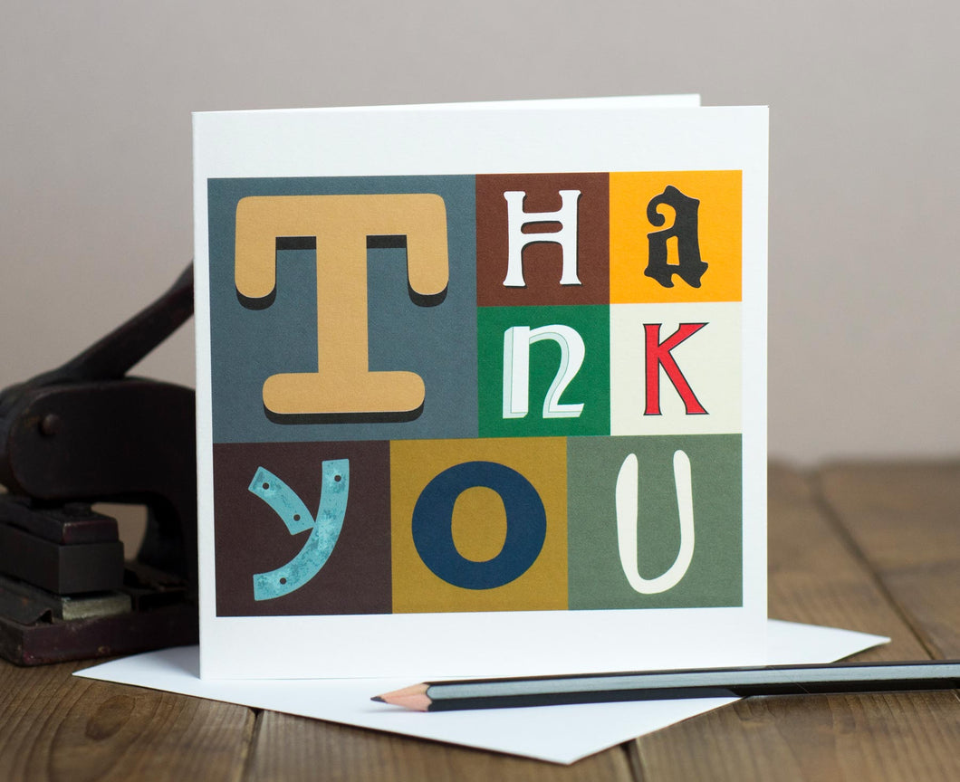 Thank You letters card