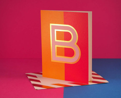Nixie B foiled letter card