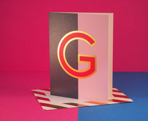 Nixie G foiled letter card