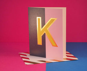Nixie K foiled letter card