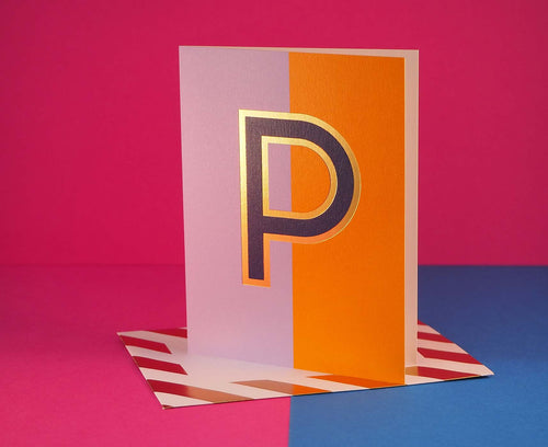 Nixie P foiled letter card
