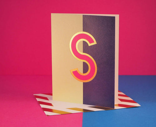 Nixie S foiled letter card