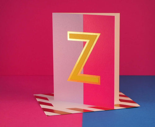 Nixie Z foiled letter card