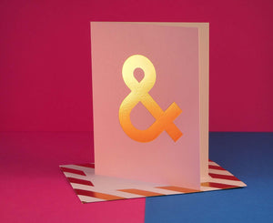 Nixie Ampersand letter card