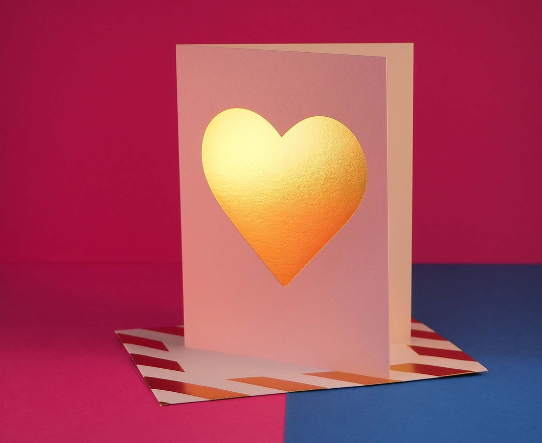 Nixie Heart letter card