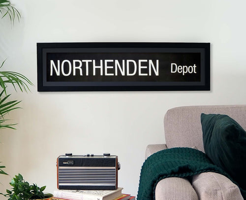 Northenden Depot Framed Bus Blind