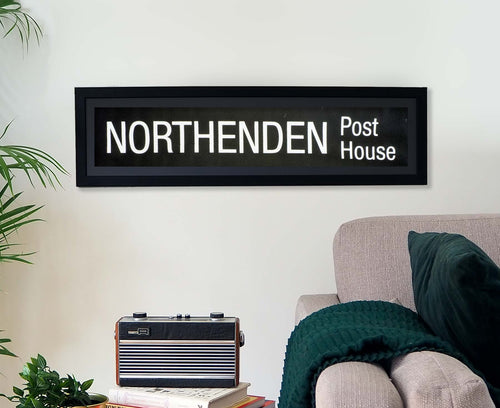 Northenden Post House Framed Bus Blind
