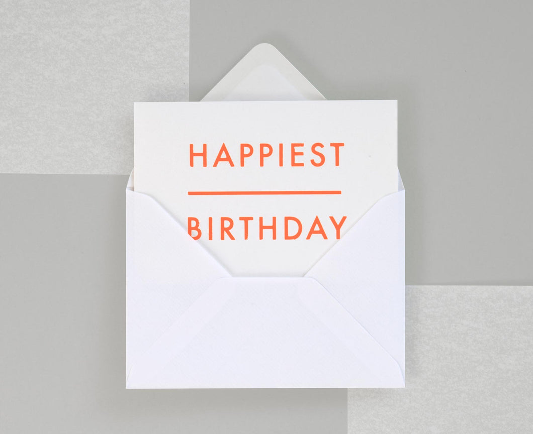 Happiest Birthday Foil Blocked Card