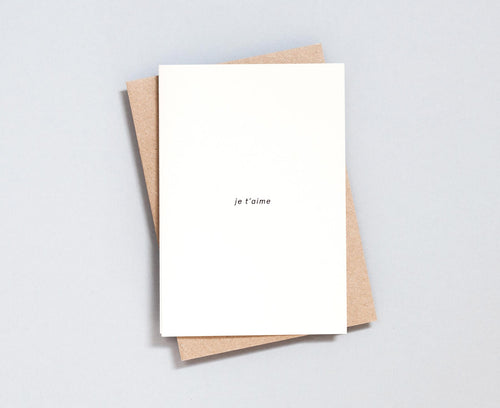 Je t'aime Foil Blocked Card