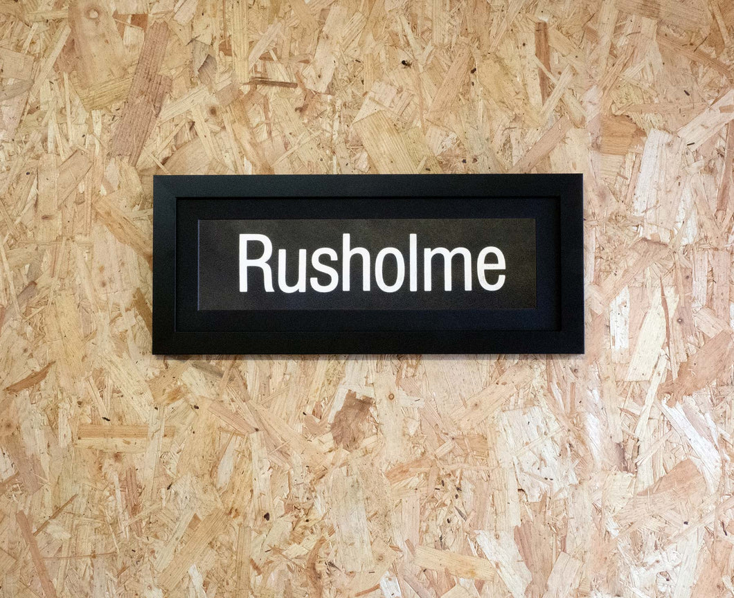 Rusholme Mini Framed Bus Blind