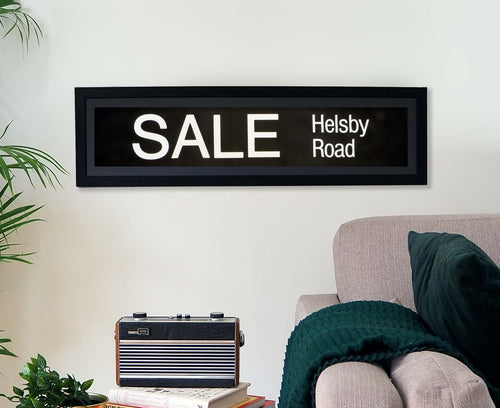 Sale Helsby Road Framed Bus Blind
