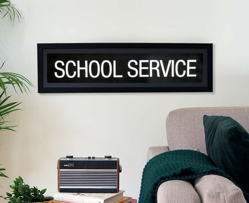 School Service Framed Bus Blind