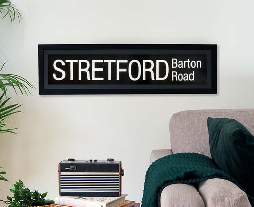 Stretford Barton Road Framed Bus Blind