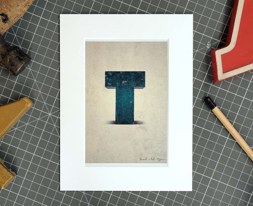Letter T Salvaged Signage postcard
