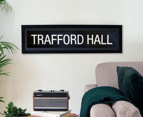 Trafford Hall Framed Bus Blind