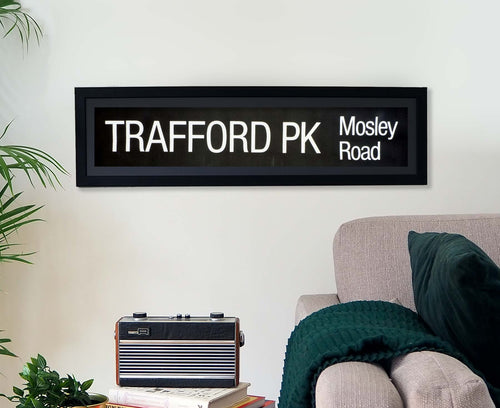 Trafford Park Mosley Road Framed Bus Blind